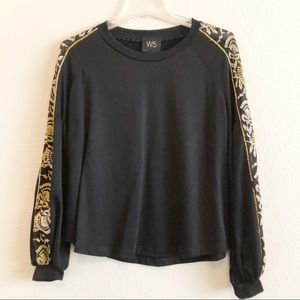 Anthropologie | W5 Long Sleeve Embroidered Top, S